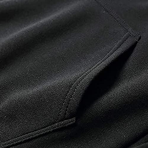 FeelFree+ Conjuntos de Chándal Completo para Hombre Sudaderas con Capucha y Pantalones Largo 2 Piezas Otoño Invierno Manga Larga Suéter con Bolsillo Banda Elástica Impresa con Personalidad Hoodie