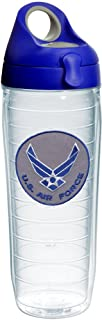 Tervis Air Force Logo Tumbler with Emblem and Blue with Gray Lid 24oz Water Bottle, Clear