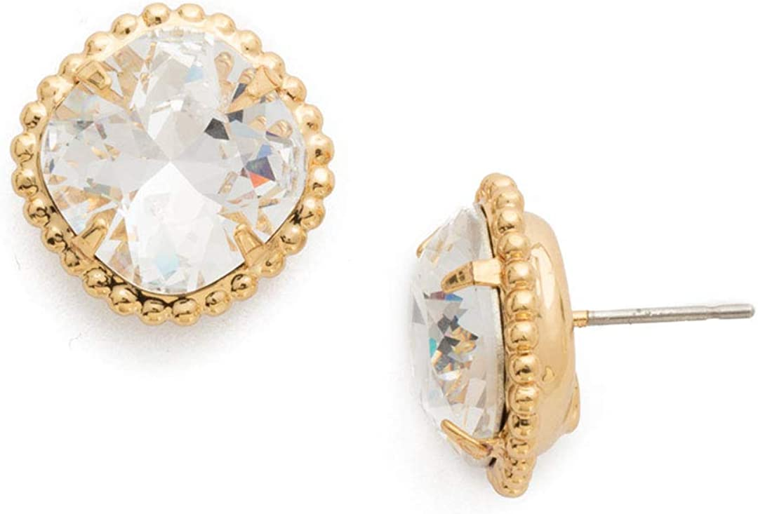 Sorrelli Essentials Cushion-Cut Solitaire Under blast sales Earrings Challenge the lowest price of Japan ☆ Stud