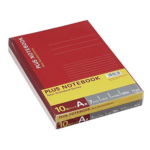 プラス ノート セミB5(6号)A罫30枚10冊パック NO-003AS-10P 76-729