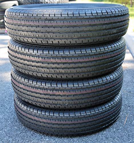 Set of 4 (FOUR) Fortune ST01 Premium Trailer Tires-ST205/75R14 105/101M LRD 8-Ply