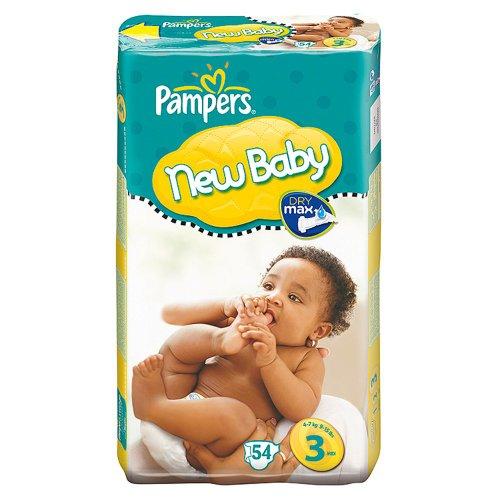 Pampers New Baby Windeln Gr. 3(9–15lbs/4–7kg)–2x Wirtschaft Packungen von 54(108Windeln)