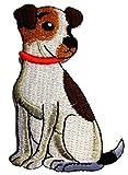 Parches - perros animal - blanco - 5,5x8,0cm - termoadhesivos bordados aplique para ropa