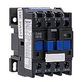 Heschen AC Contactor CJX2-0910 220V 50/60Hz Bobina 3P 3 polos normalmente abierto Ie 9A Ue 380V