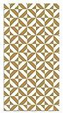 Panorama Alfombra Vinílica Geometría Mostaza 80x150 cm - Alfombra Cocina Vinilo - Alfombra Salón Antideslizante, Antihongos e Ignífuga - Alfombras Grandes - Alfombras PVC