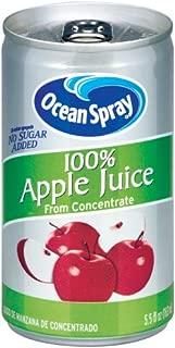 Ocean Spray 100% Apple Juice,  5.5 Ounce Mini Cans (Pack of 48)