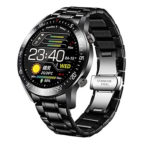 VBF Reloj Inteligente, Pantalla Táctil De Círculo Completo con Estilo, Impermeable IP68, Deportes De Hombres, Reloj De Fitness, Reloj De Lujo Inteligente para Android iOS,D