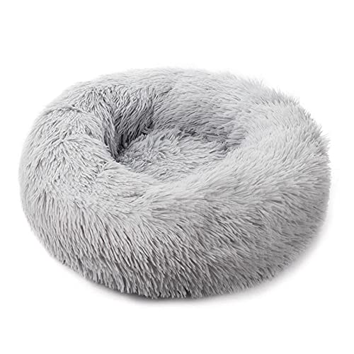 Guinea pig Cama Redonda de Felpa para Gatos, casa, Alfombrilla para Gatos, Invierno cálido para Dormir, Nido para Gatos, Suave y Larga, Cama para Perros, cojín para Mascotas para Gatos, Lavable