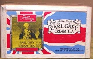 Earl Grey Cream Tea, 25 Tea Bags Sealed in a Wooden Box for Freshness