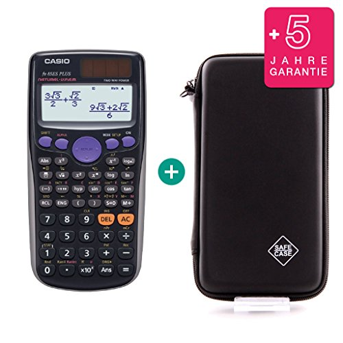 Casio FX-85ES Plus + Schutztasche + Erweiterte Garantie