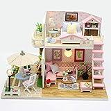 LCY Regalo El Traje De Modelo De Casa De Madera De Construcción De Juguete del Rompecabezas del Modelo DIY Miniatura Casa De Muñecas De Puzzle para Niños Montaje Niños