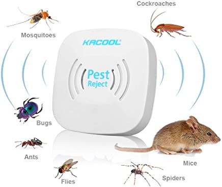 KACOOL Ultrasonic Pest Control Machine, Electronic Lizard Repellent Supersonic Mouse Repeller Pest Reject for Home to Control Mosquito, Rats, Cockroach, Mice, Insects, Fly, Non-Toxic
