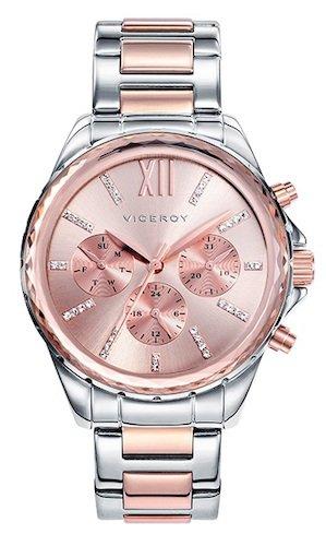 Viceroy 40930-73 - Reloj Cuarzo para Mujer, Correa de acero inoxidable, color...