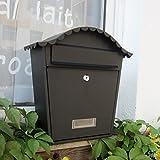 Cylficl Caja de periódico Impermeable al Aire Libre de la Pared Europea del buzón al Aire Libre del buzón de Villa