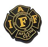 Black and Gold IAFF UNION 3.5' PVC/RUBBER (hook/loop) uniform PATCH