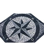 Marmer Rosone 60x60 cm kompas natuursteen windrose mozaïek tegels inlegger 014
