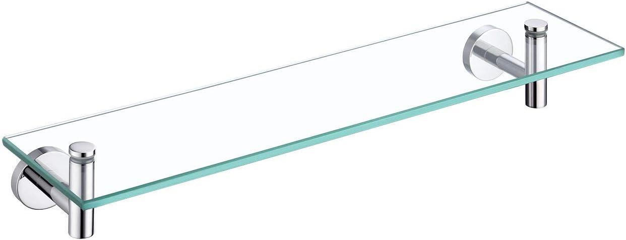 Online limited product KES Bathroom Tempered 5 popular Glass Shelf Rectangular Floating G 20-Inch