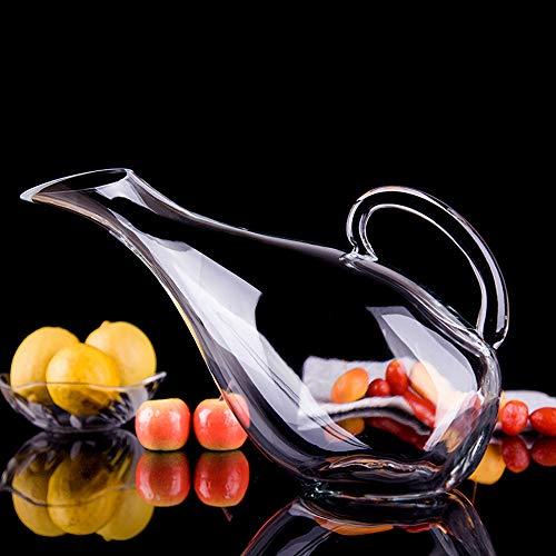 DZSF 2000ml Glas Schwan-Form-Wein-Dekanter, Belüfter Container Weinspender Karaffe mit Neuer Weinflasche jughandle