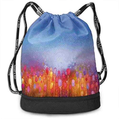 RTUBNSD Tulip Garden Under Blue Sky - Bolsa de Deporte con cordón para Yoga, para Hombre y Mujer