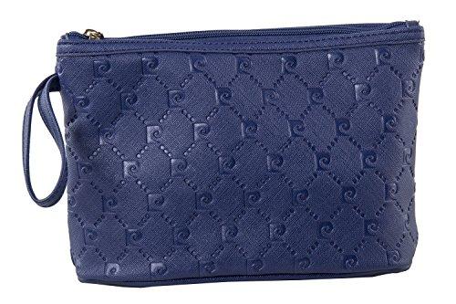 Beauty borsa porta cosmetici PIERRE CARDIN pochette porta trucco blu T407