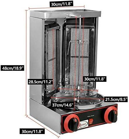 Döner Grill électrique à gaz 3000 W - 3000 W - En acier inoxydable - Pour barbecue, poulet grillé