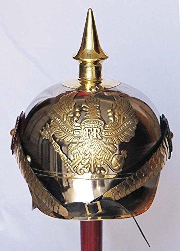 Shiv (TM Shakti Unternehmen Deutsche Pickelhaube Preußische Pickelhaube Beamte Military FR Badge Helm