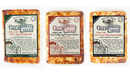 Juusto Bread Cheese Filled Variety 3 pack - Cellar-Aged Parmesan, Cheddar & Goat Filled