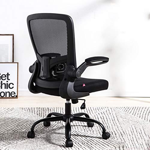 Jiale Metal Computer Chair-HJCA0312266 Étude de chaise de bureau à la maison simple écriture confortable ascenseur rotatif 64 * 49 * 105 cm (Couleur : Black frame black net)