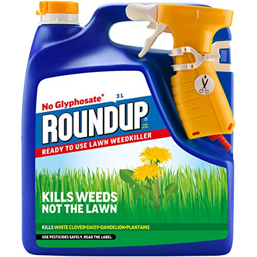 Roundup 119941 Powerful Lawn Weedkiller, Glyphosate-Free, Ready to...