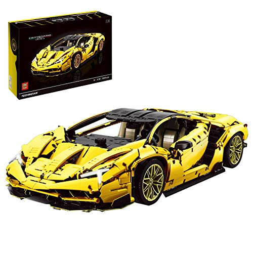 KEAYO Modelo de coche deportivo para Lamborghini Centenario LP770-4, técnica de coche, grande, con bloques de sujeción, compatible con la técnica Lego