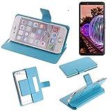 K-S-Trade® Flipcover Für JVC J20 Schutz Hülle Schutzhülle Flip Cover Handy Case Smartphone Handyhülle Blau