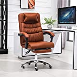Gaming Chair Racing Office Computer Ergonomic Video Game Chair, Backrest and Seat Height Adjustable Swivel Recliner with Headrest Pillow & Adjustable Armrest Esports Chair (Brown)