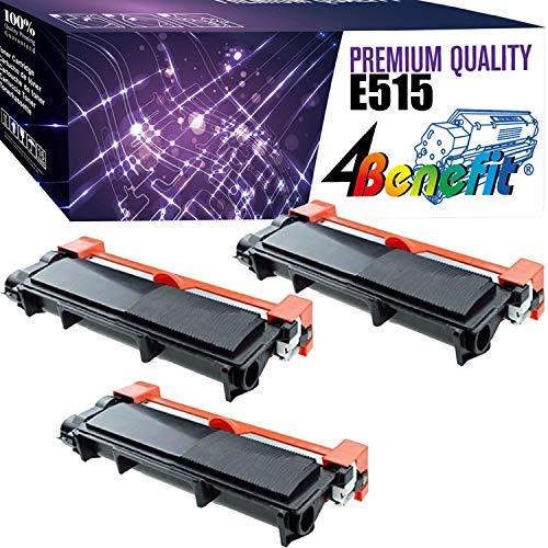(3-Pack, Black) 4Benefit Compatible Toner Cartridge Replacement for Dell E310 E515 Used for Dell E310dw E515dw E514dw E515dn E310 E514 E515 Printers