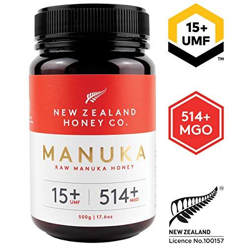 New Zealand Honey Co. Miel de Manuka MGO 514+ / UMF 15+ | Nueva Zelanda Miel 100% Pura y Saludable | 500g