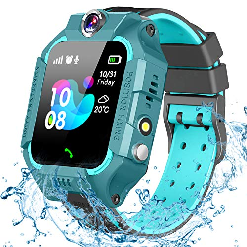 GBD Smart Watch for Kids-IP67 Waterproof Smartwatch Phone with Call Games SOS Alarm Clock 12/24 Hr,Kids Digital Wrist Watch Stopwatch for Children Boys Girls Age 3-12 Learning Toys (Green)