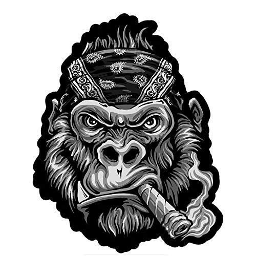 Wangna Toalla de Gorila Parche para Fumar Pegatinas de Coche Divertido Colorido...