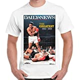 Photo de kanyeah Muhammed Ali Clay Tribute Daily News Magazine Greatest Boxer Retro T Shirt,Men (Unisex),3XL