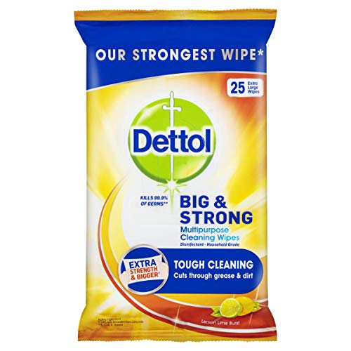 Dettol Big & Strong Citrus Multipurpose Cleaning Wipes 25 Pack