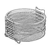 ZONJIE Rejilla de deshidratación Parrilla Olla a presión Accesorios de calidad alimentaria Apilables de 5 capas Freidora de aire Cocinas Herramienta de alimentos Bandeja de secado de horno BBQ