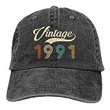 Jopath Gorra de béisbol retro vintage de 1991 1971 de 30 años de edad, ajustable, lavable, de algodón, retroVintage1991-OneSize