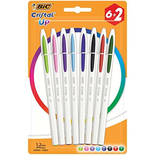 Bolígrafo Bic Cristal Up blíster 6 colores 2 gratis