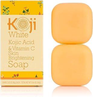 Koji White Kojic Acid & Vitamin C Skin Brightening Soap (2.82 oz / 2 Bars) –..
