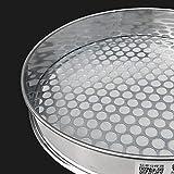 Setaccio rotondo in acciaio inossidabile per cucina prodotti da forno colino per fagioli colino per frutta colino colino - Diametro del foro 0,5 mm, diametro 30 cm