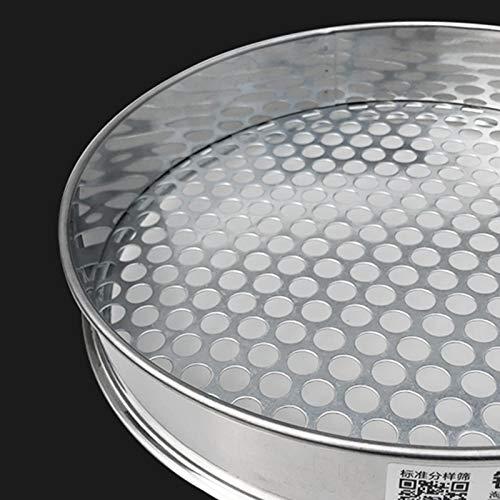 Malla Redonda de Acero Inoxidable para Cocina, Productos horneados, colador de Frijoles, colador de Frutas, colador, diámetro del Orificio 15 mm, 30 cm de diámetro