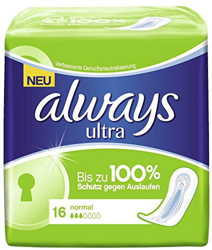 Always Ultra Normal Binden, 2er Pack (2 x 16 Stück)