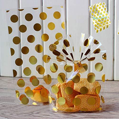 Bolsas de plástico para galletas, pasteles, chocolates, vel