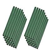 MCTECH 50pcs Clips de fixation universels Rails de serrage pour protecteur d'écran en PVC (vert, 50pcs)