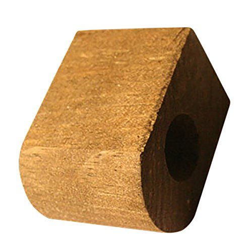 "Curtain Rod Coupler Support Antique Pine 3"" Projection 