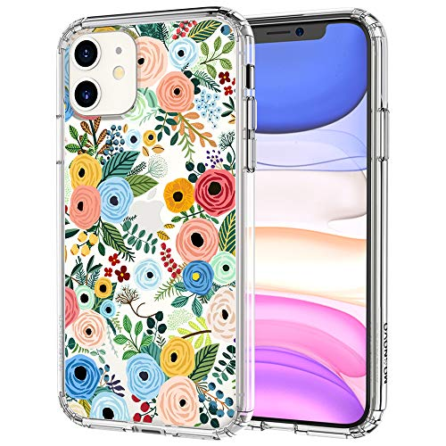 MOSNOVO Compatible for iPhone 11 Case, Clear Wild Floral Flower Pattern Print Design Girl Women with Transparent TPU…