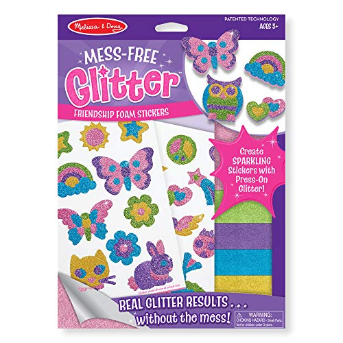 Melissa & Doug Mess Free Glitter - Friendship Foam Stickers, Multi Color